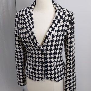 George black/white houndstooth blazer-sz 6